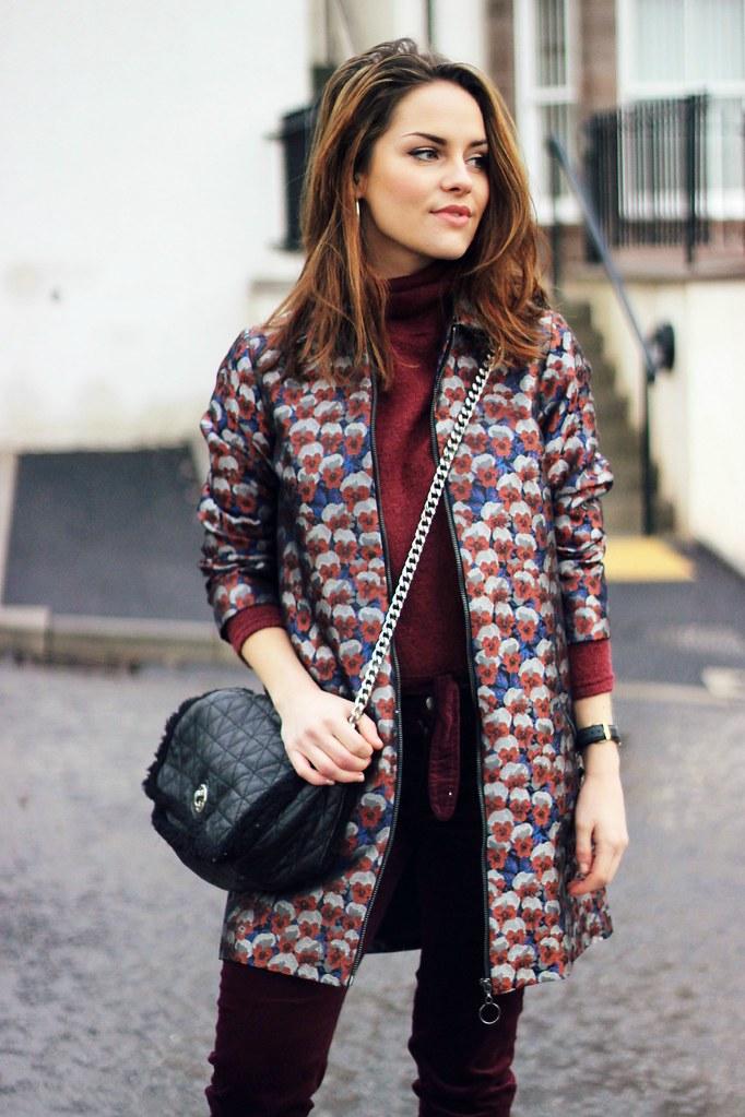 Topshop foil print jacket