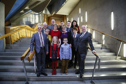 First Minister Nicola Sturgeon and family