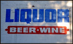 Wall Sign: Fenkell Road, Liquor, Beer and Wine--Detroit MI