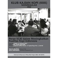 """Arsip Kilas Balik  Klub Kajian Kopi  """"Peran SCAI dalam meningkatkan Kualitas Kopi Indonesia""""  21 Januari 2012  #KilasBalik  #KlubKajianKopi  #Philocoffee"""