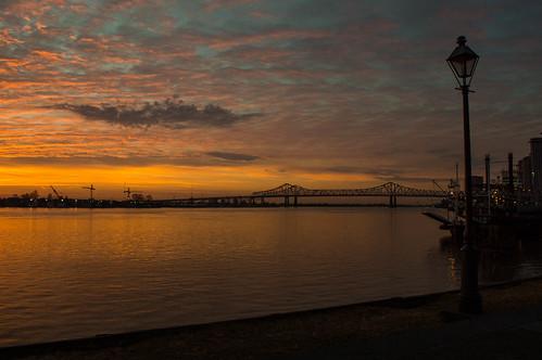sky sun nature sunrise neworleans mississippiriver
