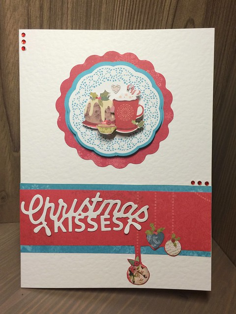 Christmas crafting - Bellissima Christmas kisses card
