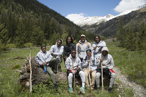 "Civic Works corps members from Baltimore, Maryland featured in the film ""Discovering the Boulder-White Clouds."" (Courtesy The Corps Network/Levi Novey)  Used with permission."