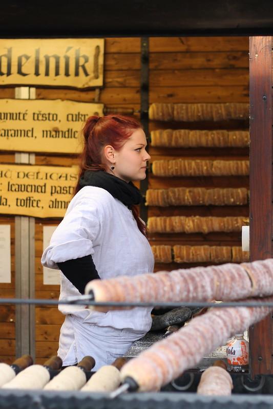 Trdelník, Prague Christmas Market 2014 on Staroměstské náměstí
