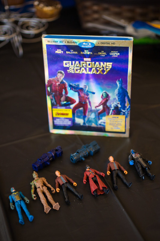 Guardians of the Galaxy Blu Ray and Toy Figures