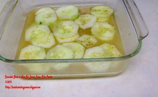 100_9251 - Cucumber Slices in Olive Oil, Lemon Juice, and Chili Pepper - 1-3-2015