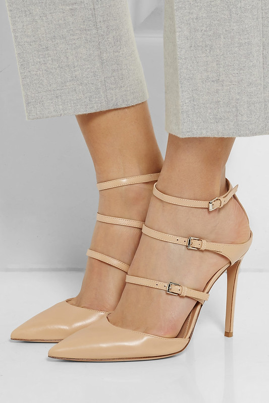 GIANVITO ROSSI Strappy leather pumps