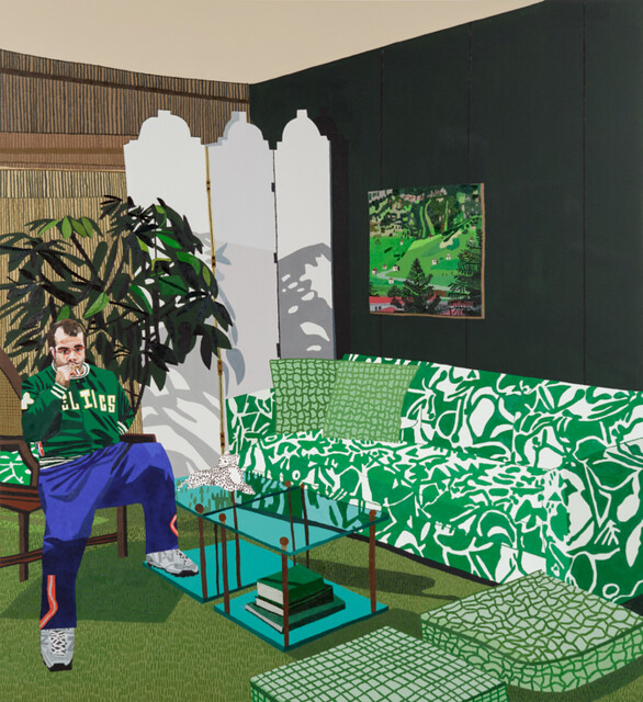 Jonas Wood, Green Room, 2012