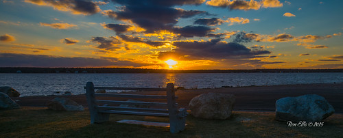ocean sunset bench unitedstates massachusetts mattapoisett