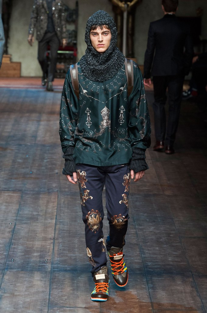 Robbie Wadge3671_FW14 Milan Dolce & Gabbana(fashionising.com)