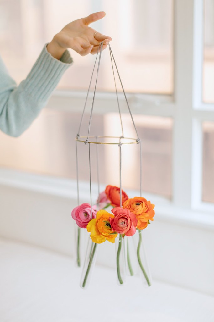 DIY Hanging Vase Chandelier