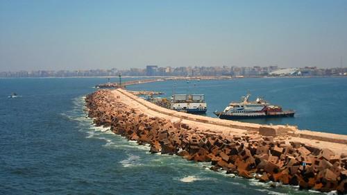 sea landscape boat ports