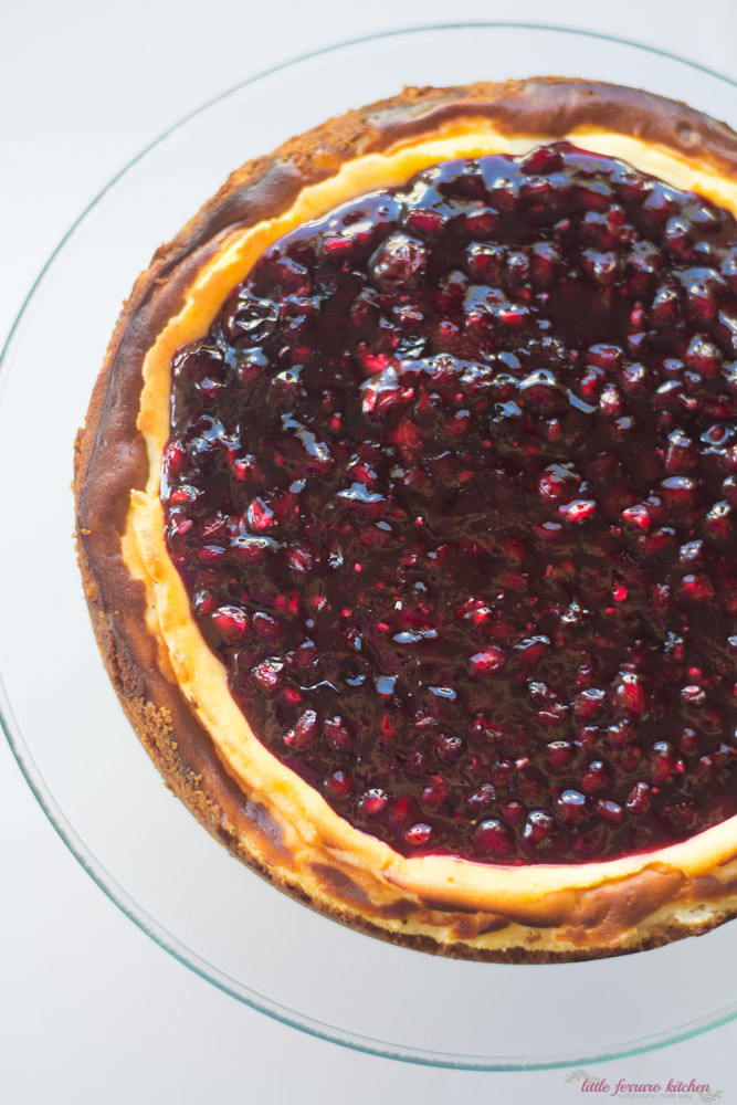 Pomegranate Cheesecake via LittleFerraroKitchen.com