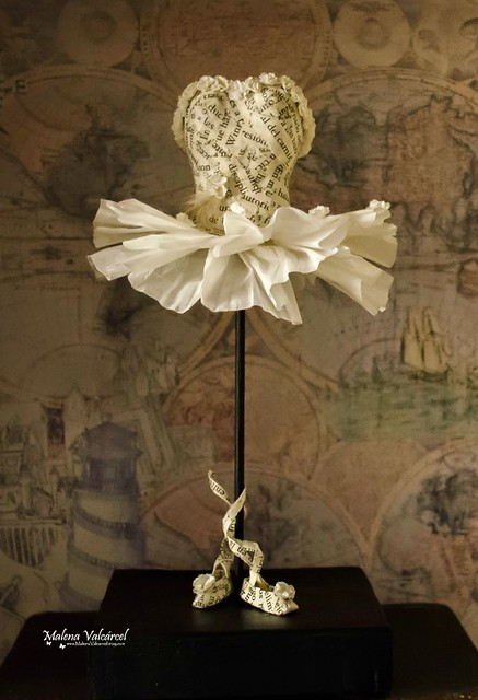 Altered Book Ballerina Sculpture by Malena Valcárcel