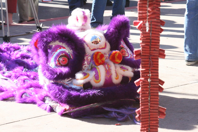Purple Chinese Lion