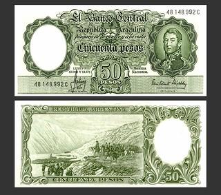 Argentina Cincuenta Pesos - Circa 1960