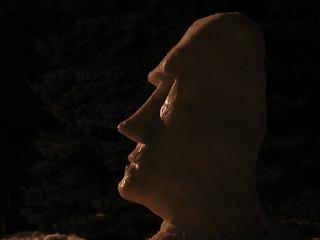 Easter Island Moai Snowman