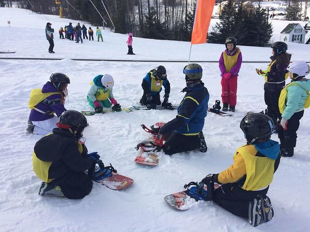 Snowboard class at Ragged Mt.