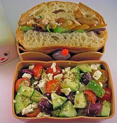 Roast Chicken Sandwich & Salad Bento
