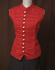 Red Steampunk Military Waistcoat Vest
