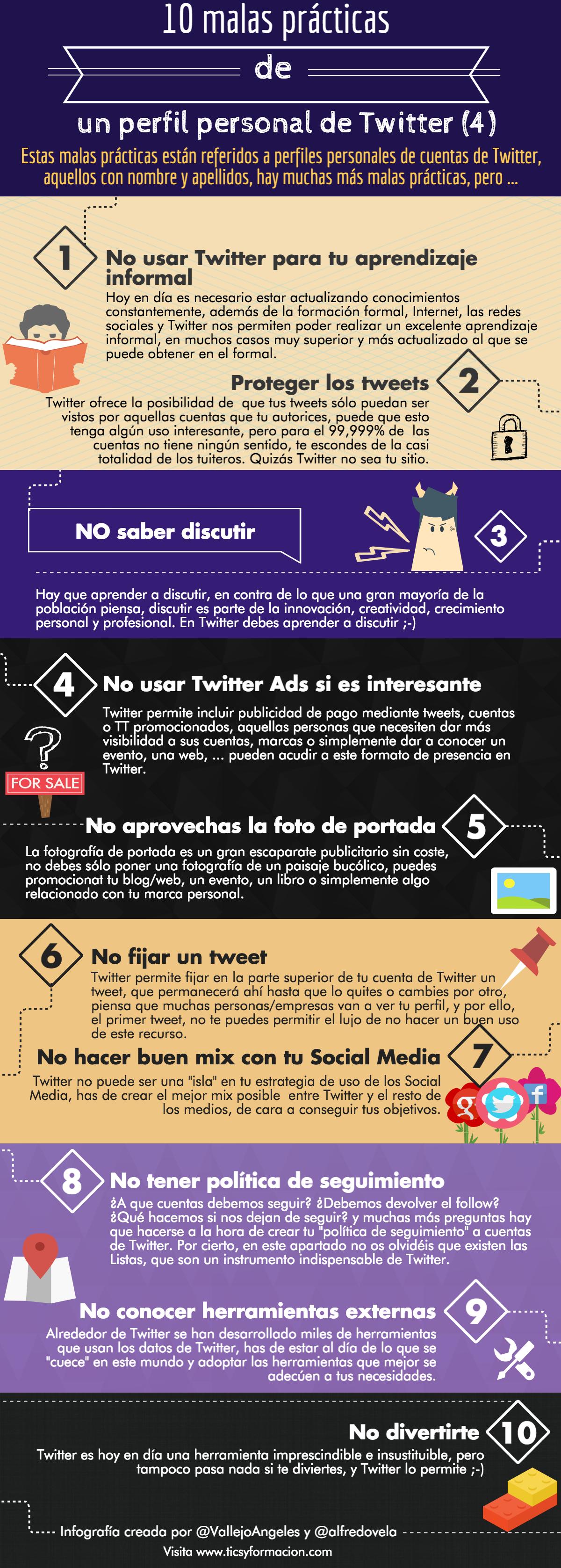 10 malas prácticas en un perfil personal de Twitter (IV)