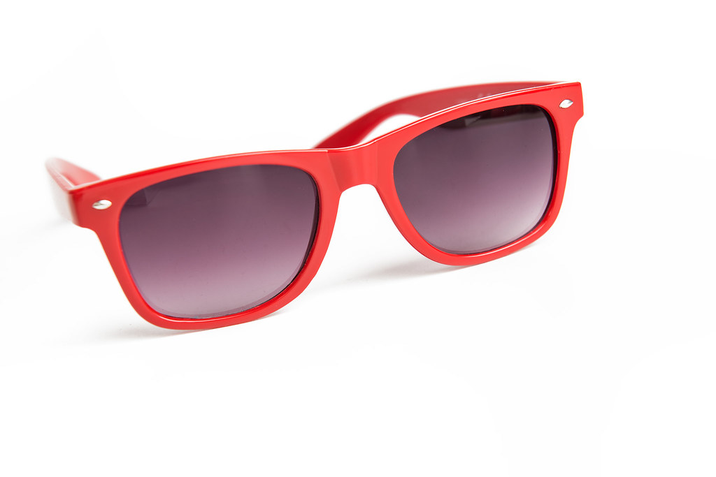 Red-Rimmed Sunglasses