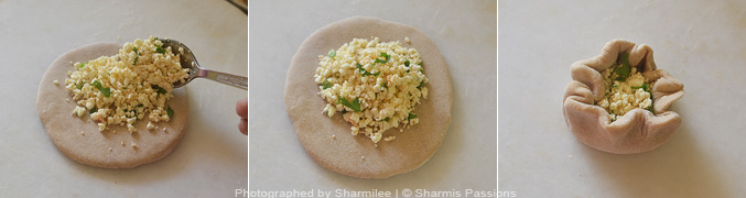 How to make Paneer paratha - Step1