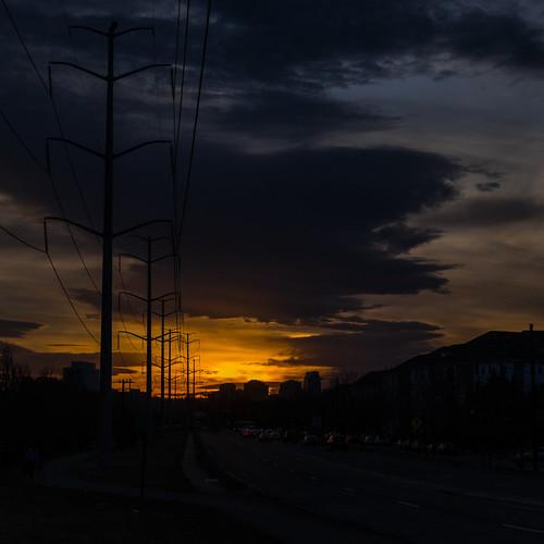 road sunset arlington virginia powerlines urbanexploration fourmilerun erinnshirley fourmilerunbikepath southgleberoad