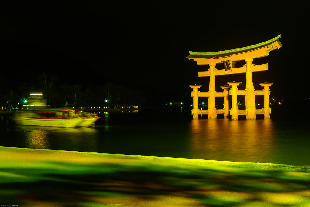 Torii Gate by night #1/3 Miyajima.Japan