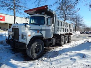 White Mack Dump Truck