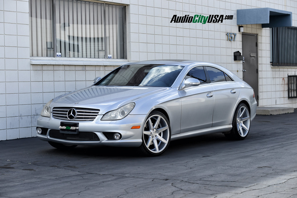mercedes benz cls 500 on 20 rennen crl 70 brush silver deep concave wheels forums. Black Bedroom Furniture Sets. Home Design Ideas