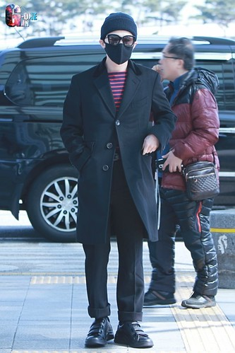 Big Bang - Incheon Airport - 01apr2015 - G-Dragon - G-One - 02