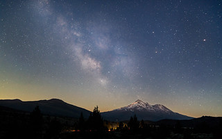 The Milky Way Over Mt. Shasta