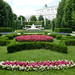 Formal garden within the grounds of the Hofburg Palace by Monceau