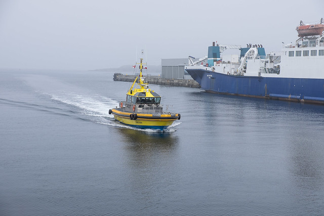 Pilot returning to harbour