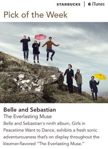 Starbucks iTunes Pick of the Week - Belle and Sebastian - The Everlasting Muse