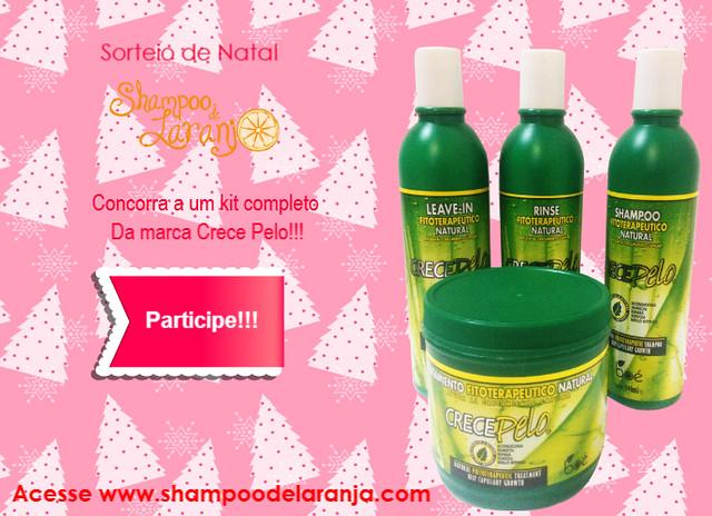 """Sorteio de Natal: Um kit completo da marca """"Crece Pelo"""""""