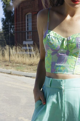 Mossman clothing floral bustier