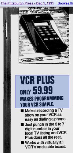 VCR Plus (12/1/1991