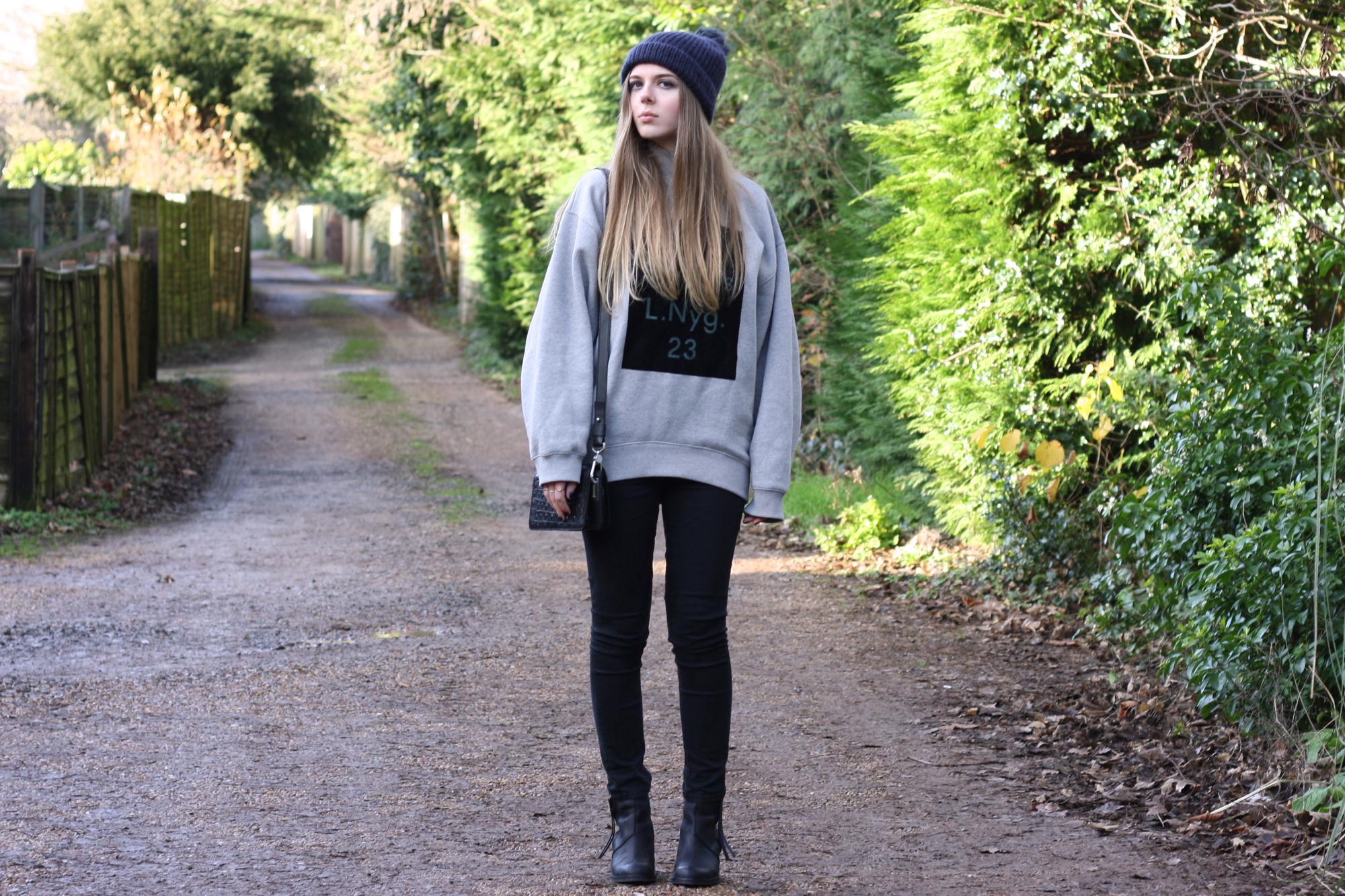 Acne Studios Beta flock sweatshirt