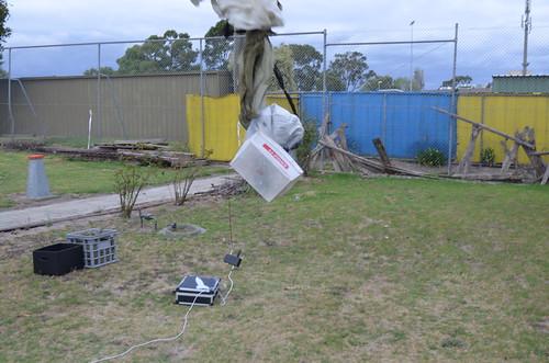 Parachute deployment test for 1:1 V2 Rocket
