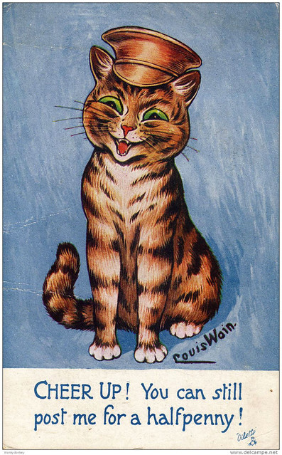 001-Louis Wain-via Delcampe.net