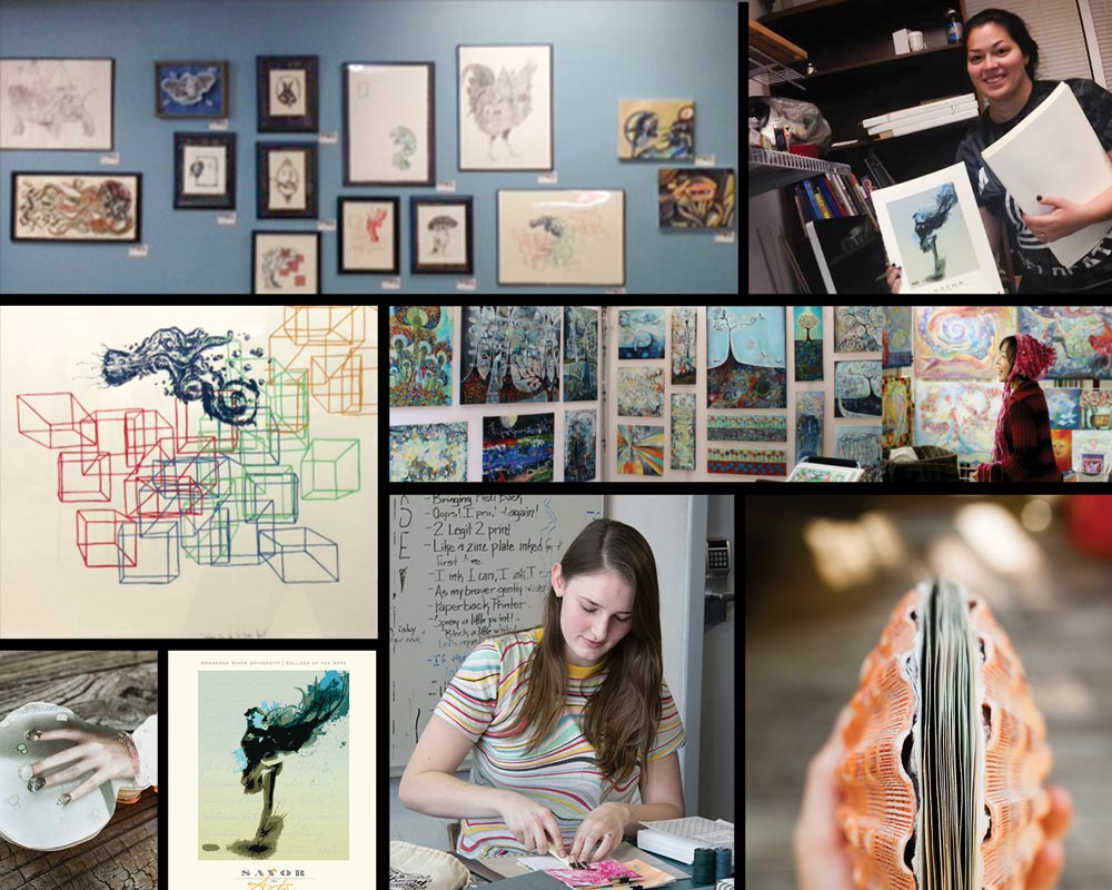 2015 January Montage of Student Success in the School of Art and Design, KSU