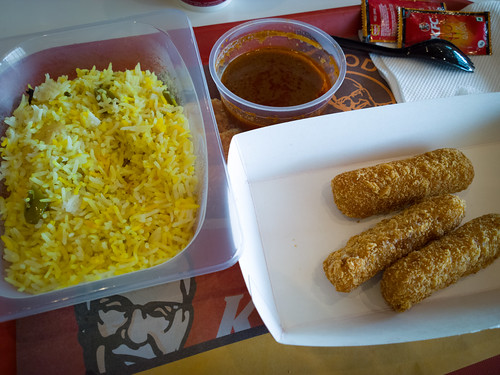 KFC veg meals at Mumbai airport