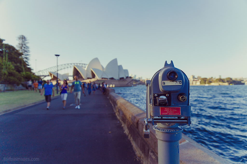 Viewfinder overlooking the Sydney Opera House and Harbour Bridge