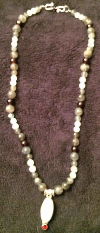 Moonstone Garnet Necklace