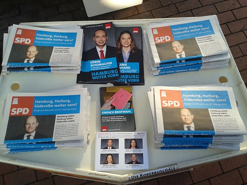 Infostand in Marmstorf am 17. Januar 2015