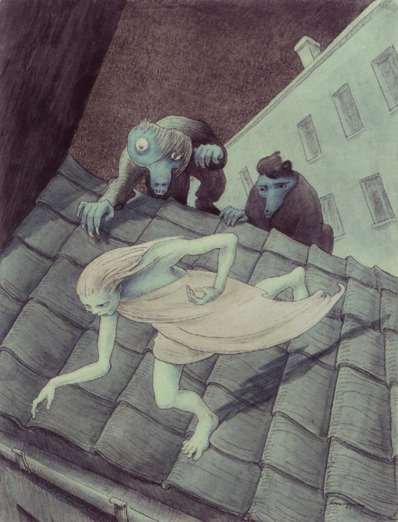 Walter Schnackenberg - Escaping over the roof (1955)