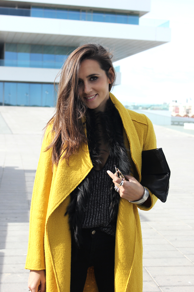 yellow coat fashion shoes coohuco 9
