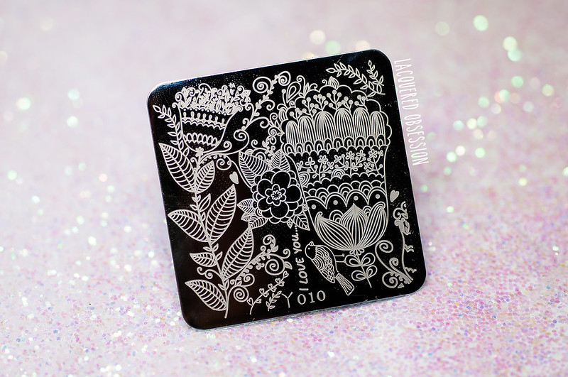 Born Pretty Store Full Flower Stamping Plate (review / recenzia)